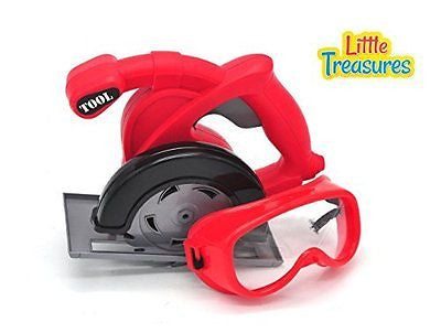 Worker man Tool Set Little Treasures Table reciprocating saw and Googles