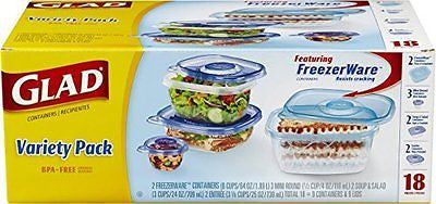 Glad Food Storage Containers Variety Pack 18 Count