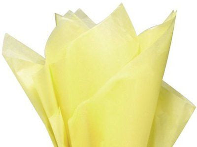 "Bulk LIGHT YELLOW 15""x20"" Tissue Paper - 100 Sheets"