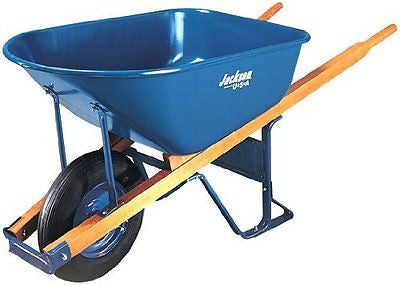 Jackson M6T22 6 Cubic foot Steel Tray Contractor Wheelbarrow With Front Braces