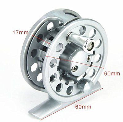 Top Grade Brand New Aluminum Fishing Fly Reels Trout 2+1bb 2/3 Silver Color