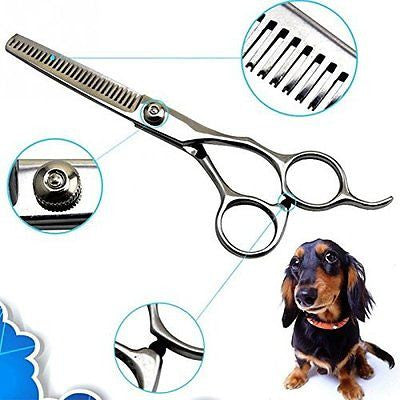 New Pet Dog Cat Professional stainless steel Grooming Hair Thinning Scissors