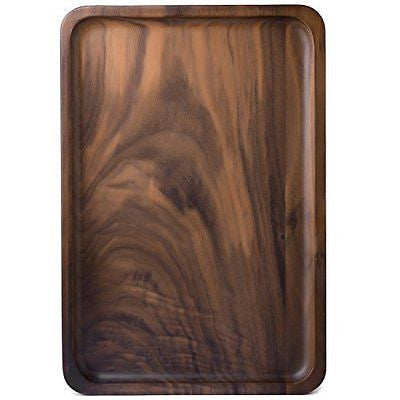Wood Serving Tray Decorative Trays Serving Platters for Tea Coffee Wine