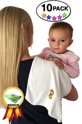Baby Travel Burp Cloth Microfiber + Burping Rags + Travel Baby Gym