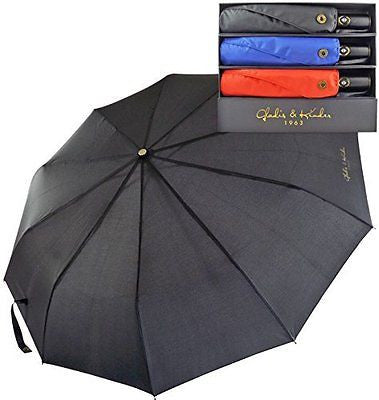 Premium Compact Travel Umbrella with Auto Open Close. Industry Leading 10 Rib