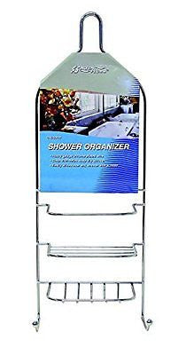 Hanging Shower Organizer Chrome Bath Caddy Bathroom Soap Holder Hanger Rack NEW