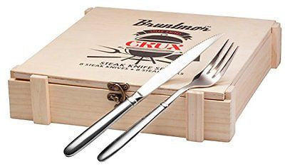 Bruntmor CRUX Royal 18/10 Stainless Steel 16-piece Steak Knife set Wooden Box