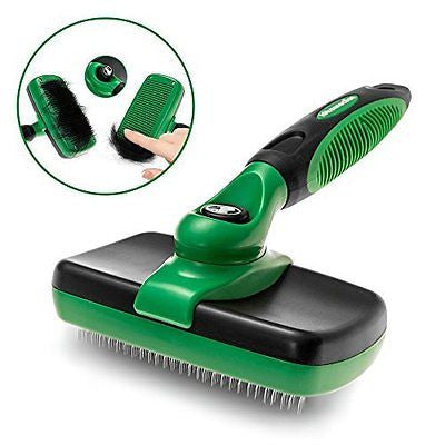 K9konnection Self Cleaning Slicker Brush for Dogs or Cats | Gently Removes