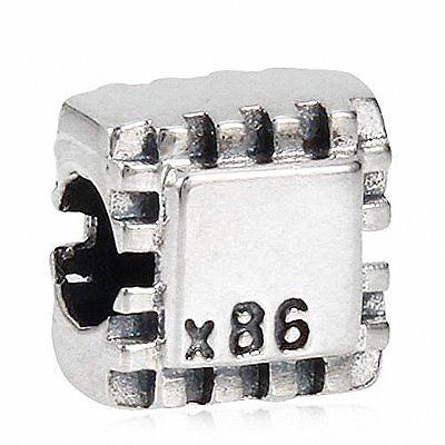 SoulBeads European Style Antique 925 Sterling Silver Intel x86 Processor CPU