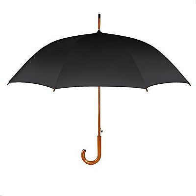 HOMETEK 42 Inch Classic Auto Open Wooden Stick Umbrella