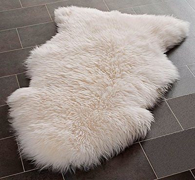 Safavieh Sheep Skin Collection SHS121A Handmade White Area Rug