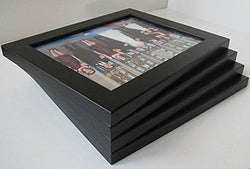 8 By 10-inch Picture Frame 4-piece Set, Smooth Finish, 1.25 Inch Wide
