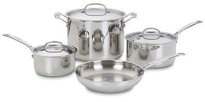77-7 Chef's Classic Stainless 7-Piece Cookware Set