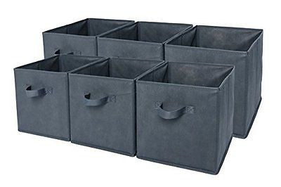 Sodynee? Foldable Cloth Storage Cube Basket Bins Organizer Containers Drawers