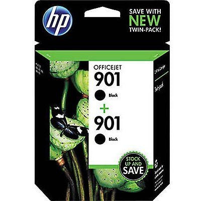 901 Black Original Ink Cartridges 2 pack (CZ075FN)