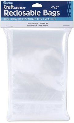1115-03 100-Pack Plastic Reclosable Storage Bags 4 by 6-Inch Clear