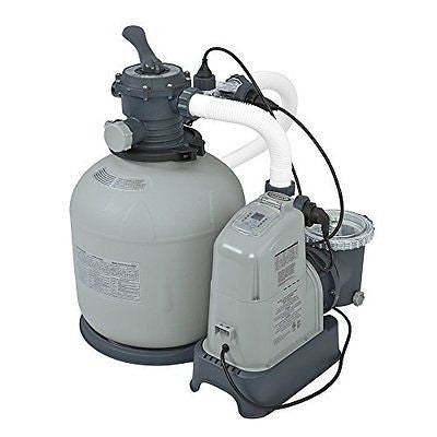 Intex 120V Krystal Clear Sand Filter Pump & Saltwater System CG-28679 with E.C.