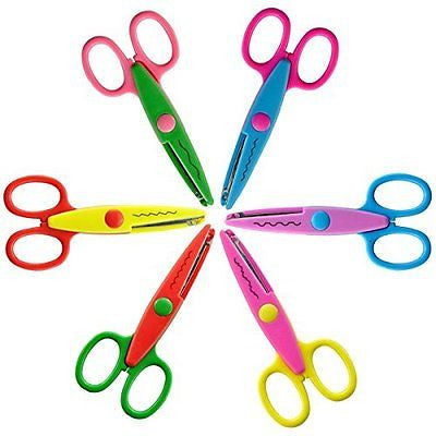 HOMEE Safe Paper Edging Scissors for Kids 6PK