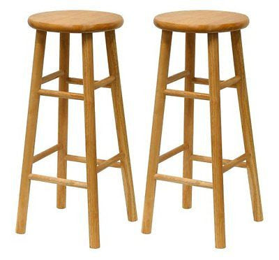 Winsome Wood S/2 Wood 30-Inch Bar Stools Natural Finish