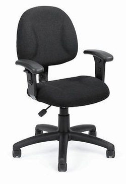 Boss Fabric Deluxe Posture Task Chair with Arms Black