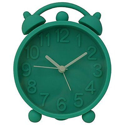"Hippih 4"" Retro Cute Silicone Alarm Clock Bedside Table Clock Vibrant Colours"