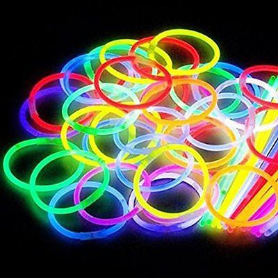 "200 8"" Glow Stick Bracelets,mixed Colors"