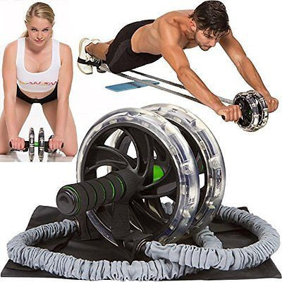 ABWOW Ab Roller Pro Wheel with Bonuses, Perfect Abdominal Core Fitness Workout,