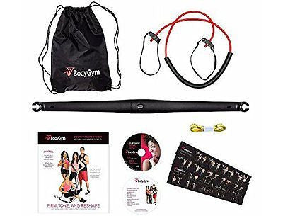 Deluxe Portable Resistance Band Home Gym with DVDs and Bag