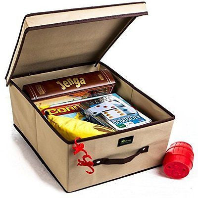 Foldable Storage Box with Lid Stylish Collapsible Household Storage Bins