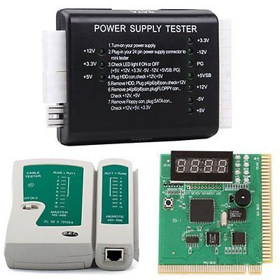 HDE PC Network Test Kit Motherboard POST Analyzer Cable Power Supply Tester