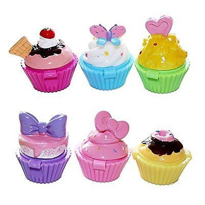Jalousie Novelty Cupcake Lip Gloss 6 Piece Girls Birthday Party Favors FDA