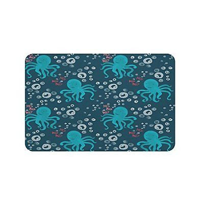 Gillham Studios Under the Sea - Durable Microfiber Foam Bath Rug (24x17 inch)