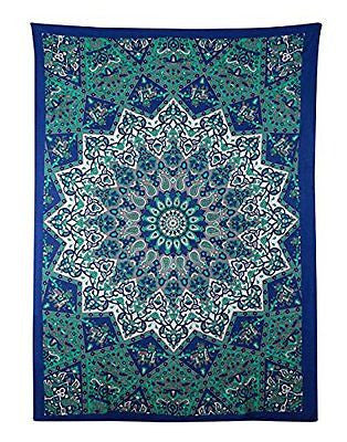 Marubhumi (TM) Twin Hippie Star Tapestries , Psychedelic Tapestry