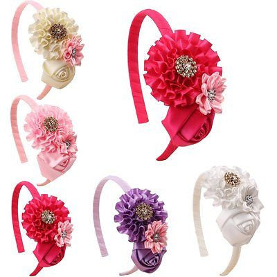 ROEWELL? Hair Ribbon Bow Hair Clip Headbands for Baby&Girl (5 Pack)