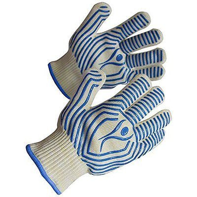 KitchenSafe Heat Resistant Gloves Set of 2 for Maximum Safety BBQ Camping