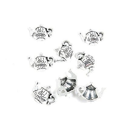 130 Pieces Antique Silver Tone Jewelry Making Charms Findings Fashion Wholesale