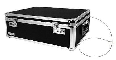 Locking Storage Box 19.5 x 7 x 13.5 Inches Black (VZ00323)
