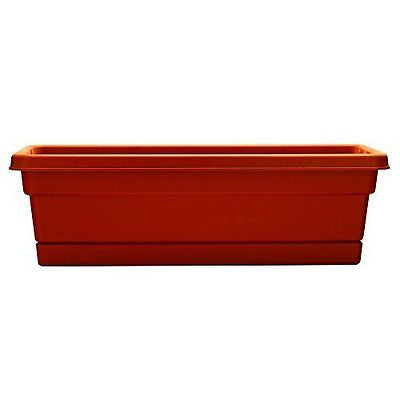 Dynamic Design WB3012TC 30-Inch Terra Cotta Rolled Rim Window Box with Attached