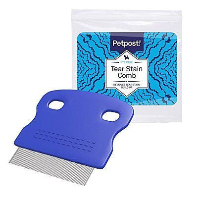 Petpost | Tear Stain Remover Comb for Dogs - Extra Fine Tooth Rake Gently & Effe