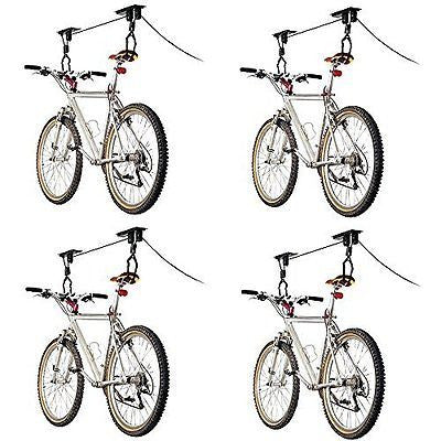 4-Bike Elevation Garage Bicycle Hoist Kit