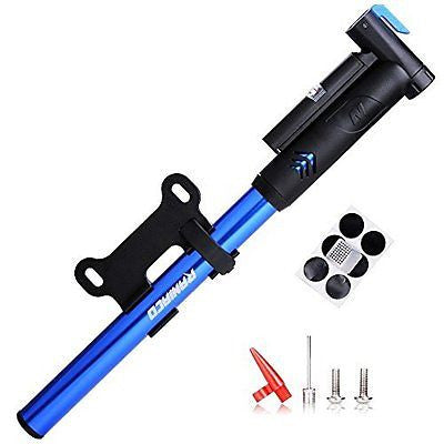 Mini Bike Pump,Raniaco 120PSI Portable Bicycle Frame Pump with Gauge