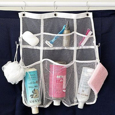 Evelots Mesh Bath & Shower Organizer Space Saving 6 Pocket Storage Caddy