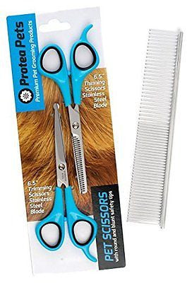 [EXTRA 50% OFF 1 WEEK ONLY] Cat & Dog Grooming Scissors (2 Pairs) & Comb Set