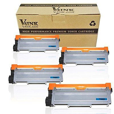 V4INK ? 4-Pack New Compatible Brother TN630 TN660 Toner Cartridge Black