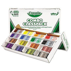 - Classpack Crayons w/Markers, 8 Colors, 128 Each Crayons/Markers, 256/Box