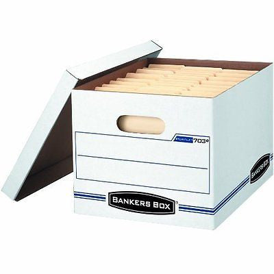 Bankers Box Stor/File Storage Box with Lift-Off Lid, Letter/Legal
