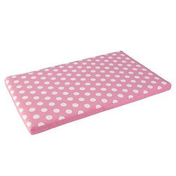 KidKraft Austin Toy Box Cushion, White/Pink Polka Dots