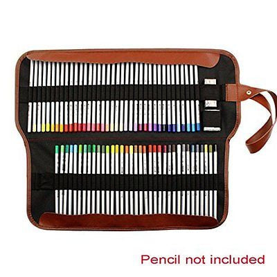 Sumnacon? Canvas Roll-Up Pencil Wrap - Multipurpose Pencil Roll Bag Gel Pens
