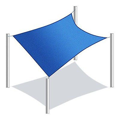 Windscreen4less? 16' x 16' Sun Shade Sail Canopy Beige -3rd Generation - Commerc