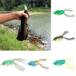 5pcs Cute Frog Topwater Fishing Lure Crankbait Hooks Bass Bait Tackle New